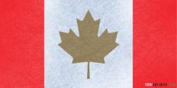 Gold Medal Canadian Flag