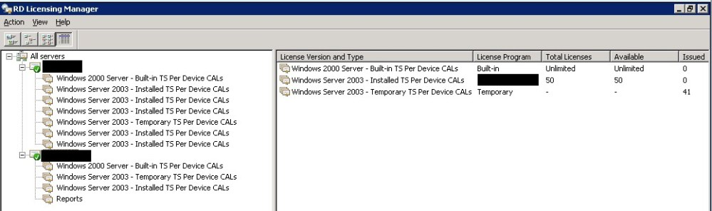 Migrating Terminal Server Licenses from Windows Server 2003 to Windows Server 2008 R2 using the Remote Desktop Licensing Manager (3/6)