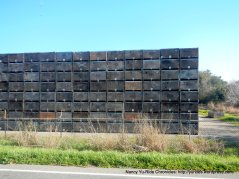 stacked boxes on Walnut Grove Rd