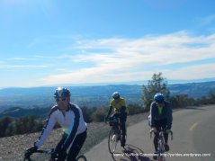 L-R, Patrick, Paul & Ron heading up Summit Rd