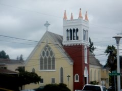 colorful church exterior