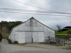 old white barn