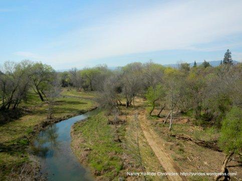 crossing Putah Creek