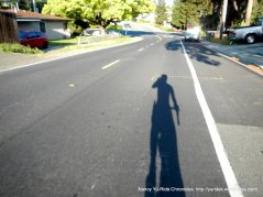 early morning long shadow