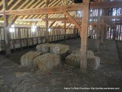 inside hay barn