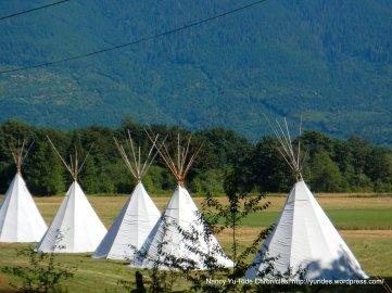 Sauk Suiattle Indian Tribe tepees