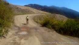 Happy Canyon-packed dirt road