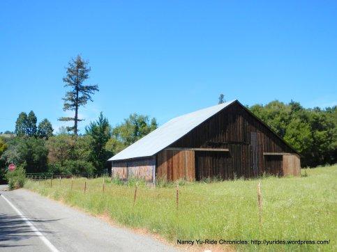 vintage ad wooden barn