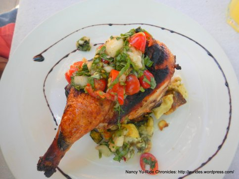 grilled game hen