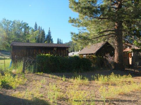 wooden garages/buildings