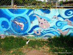 parking lot murals