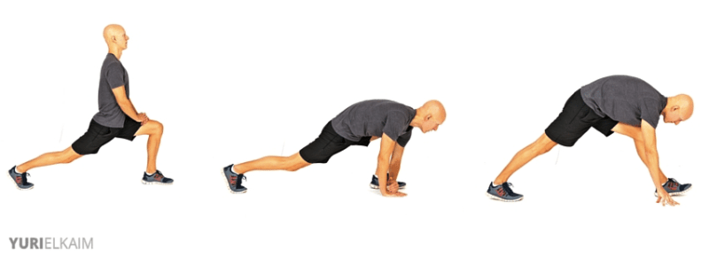Dynamic Warm-up Exercises - 2-Step Hamstring Stretch