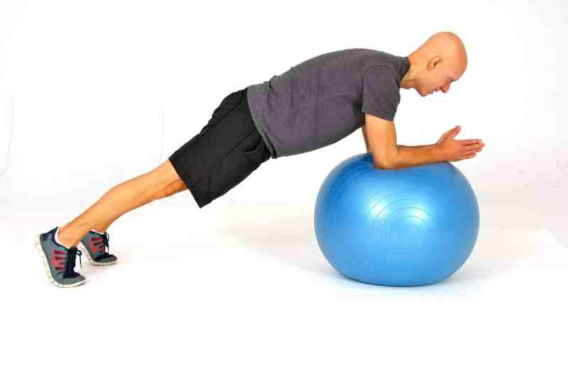 The Best Stability Ball Exercises for Core Training - Stability Ball Circle Planks