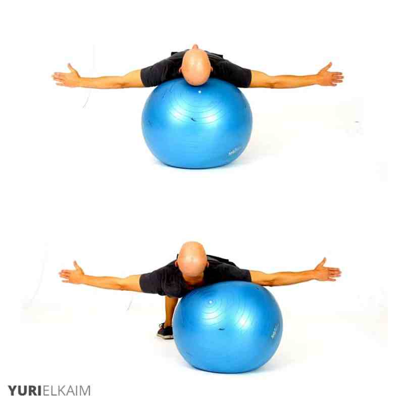 The Best Stability Ball Exercises for Core Training - Stability Ball Lateral Crab Walks