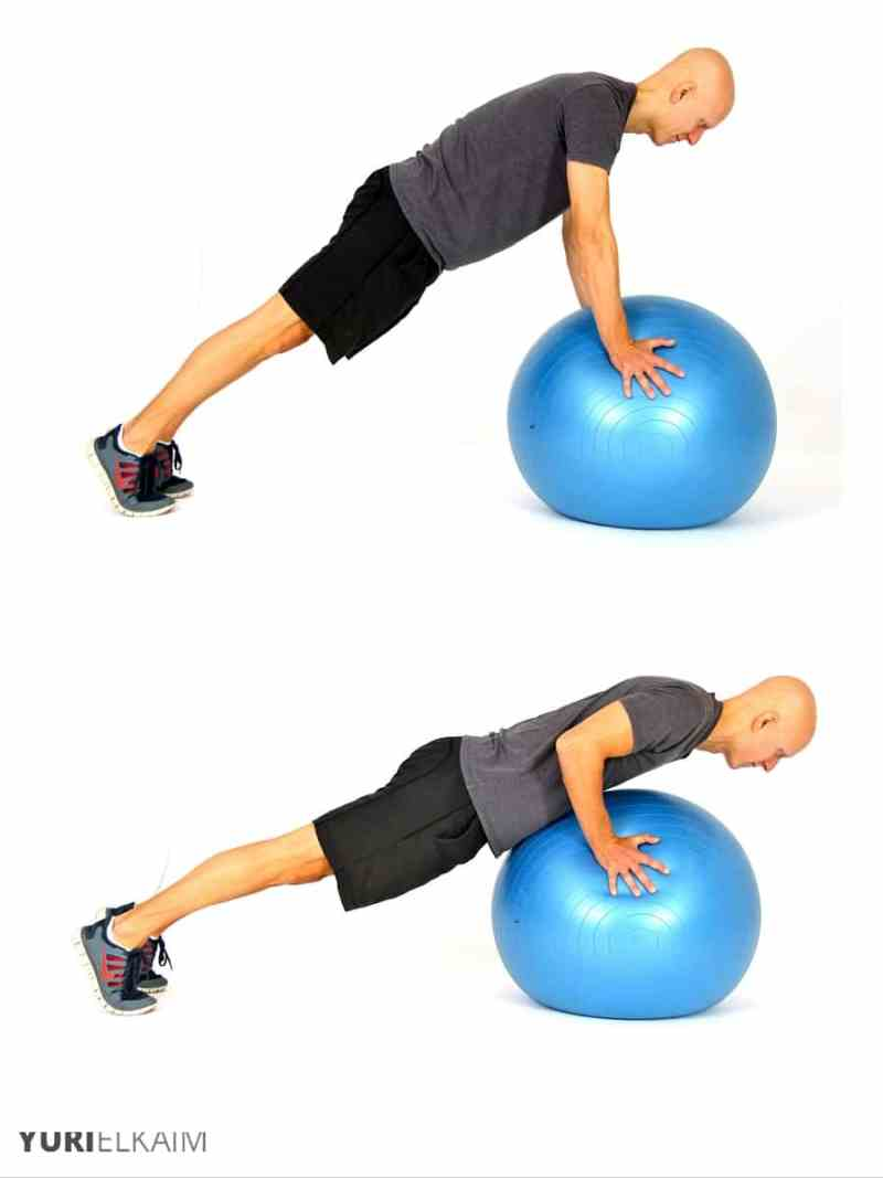 The Best Stability Ball Exercises for Core Training - Stability Ball Push-ups