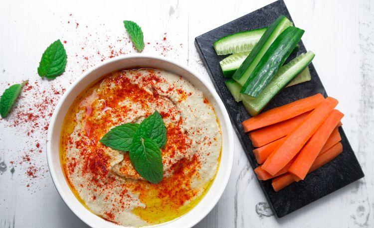 Simple Hummus Recipe - Nadia's Healthy Kitchen