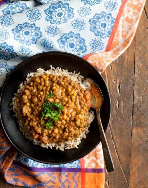 Slow Cooker Masala Lentils via The Full Helping