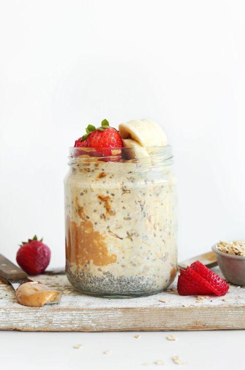 Peanut Butter Overnight Oats via Minimalist Baker