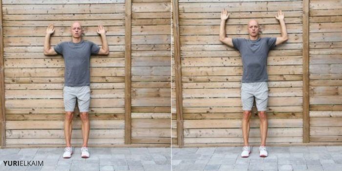 Wall Slides Exercise