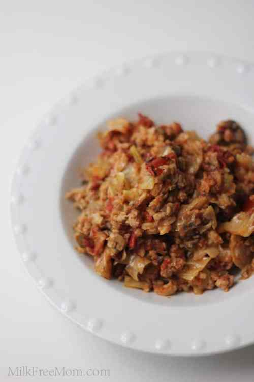 Slow Cooker Stuffed Cabbage Casserole via Milk Free Mom