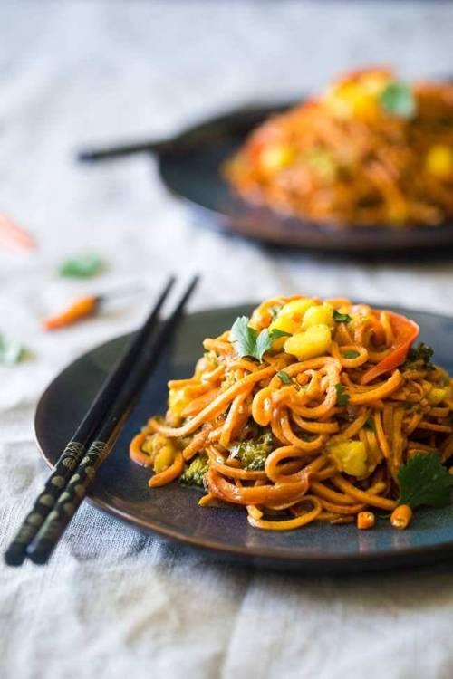 Coconut Curry with Sweet Potato Noodles via Food-Faith-Fitness