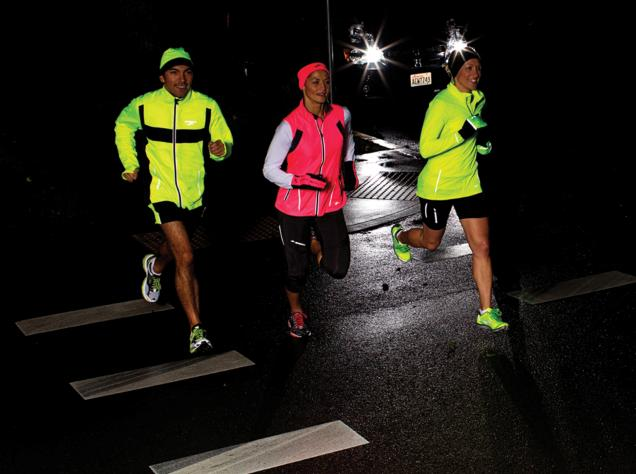 A running group at night