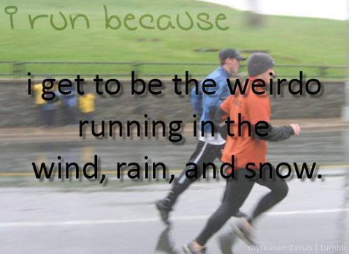 weirdos running in the rain