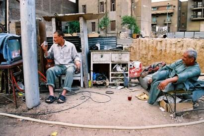 Yuri Martins Fontes / Egito-2007 / Heliópolis: Borracharia de rua / Grande Cairo / Possivelmente a lendária Babilônia