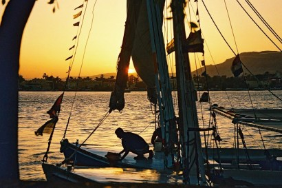 Yuri Martins Fontes / Egito-2007 / Luxor: Atracadouro no Rio Nilo