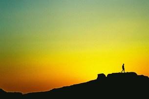 Yuri Martins Fontes / Sudão-2007 / Wadi-Halfa: Solidão do deserto / Pôr-do-sol no Saara