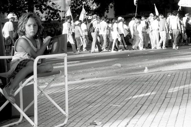 Yuri Martins Fontes / Argentina-2005 / Buenos Aires: Manifestação na Avenida de Mayo