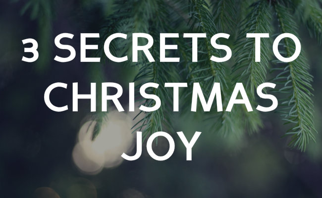 secrets to christmas joy