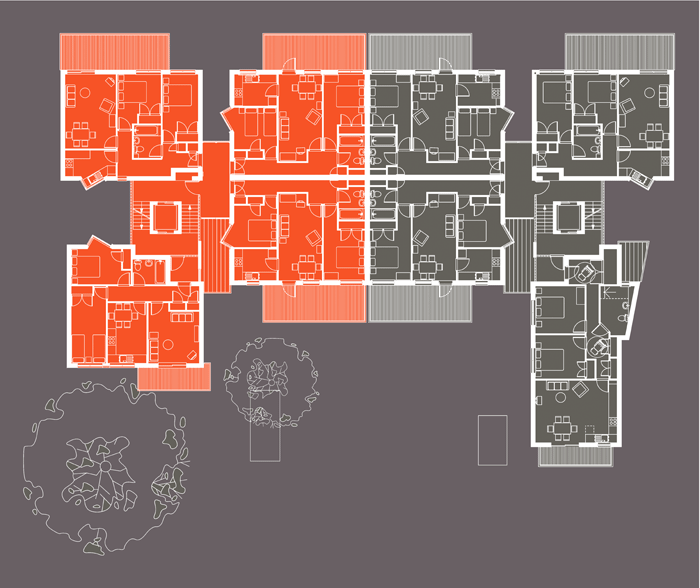 Typical floor plan of Union Wharf project