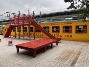 森の子リスキッズステーションイエロー電車