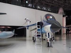 各務原航空宇宙博物館飛行機清掃