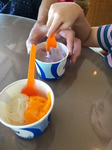 リザンシーパークラウンジのアイス