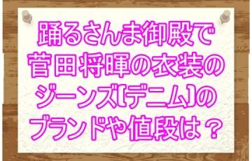踊るさんま御殿で菅田将暉の衣装のジーンズ(デニム)のブランドや値段は?3