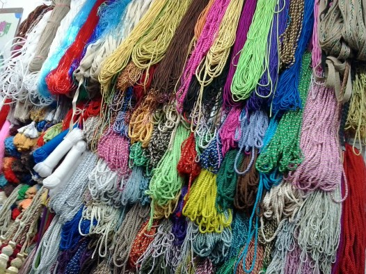 Rope shopping during Spring Festival madness at YuYuan Garden, in Shanghai, China