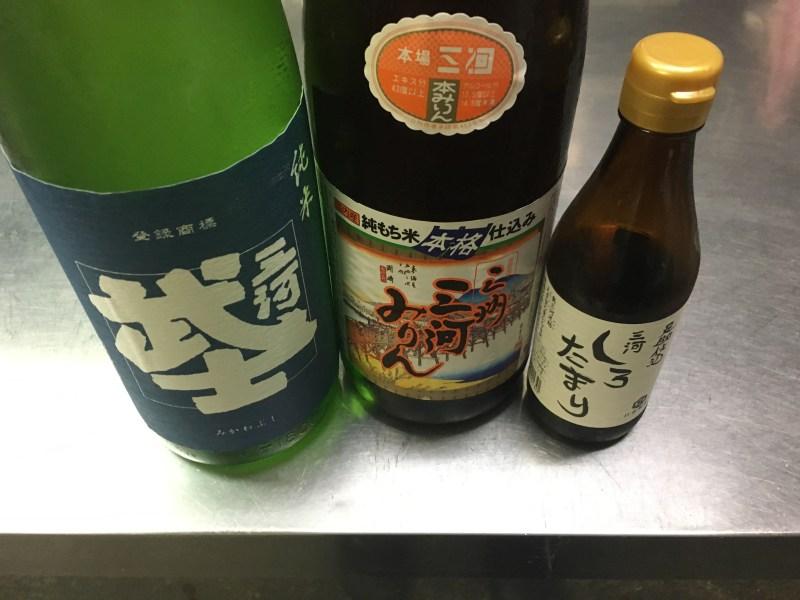 白醤油、味醂、日本酒