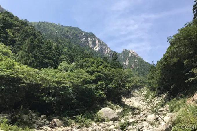 御在所岳の裏登山道からの景色