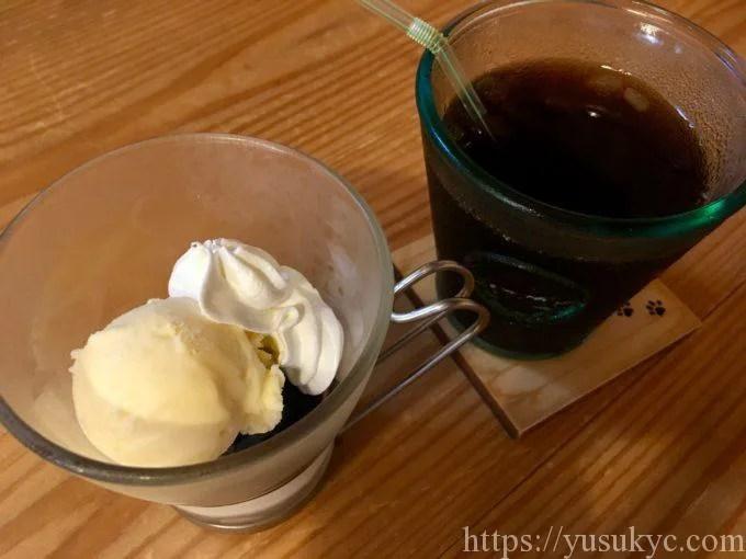 おうちcafeのランチのデザートとドリンク