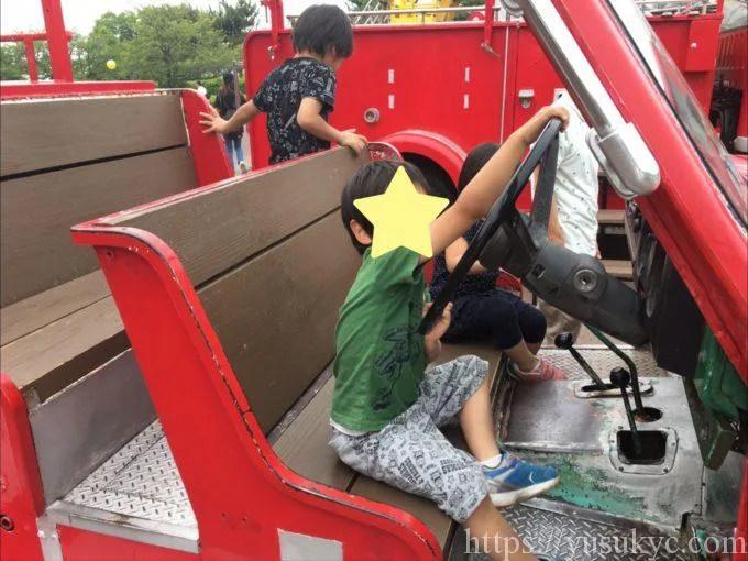 海南こどもの国の消防車