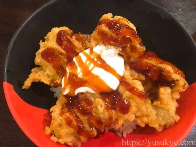 伊予製麺の照焼き鶏天丼
