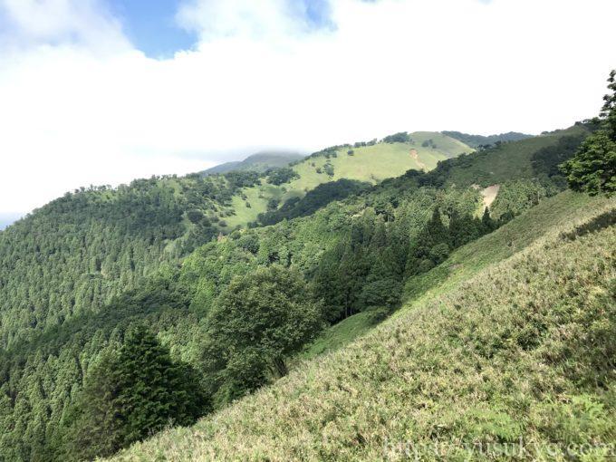 竜ヶ岳の遠足尾根コース