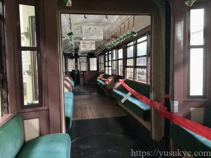 レトロでんしゃ館の展示車両(市電3000型)