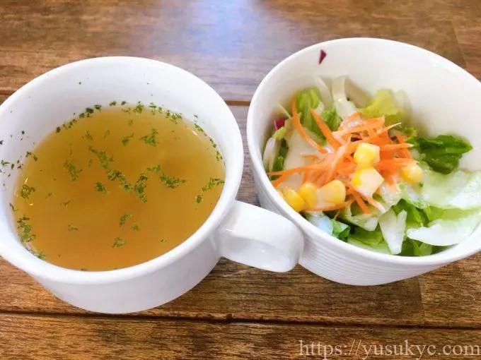カフェブランパンのランチ(スープ・サラダ)