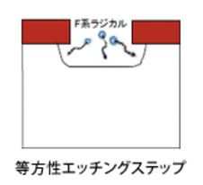 等方性,エッチング,SF6