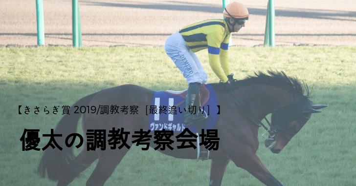 【きさらぎ賞 2019/調教考察[最終追い切り]】