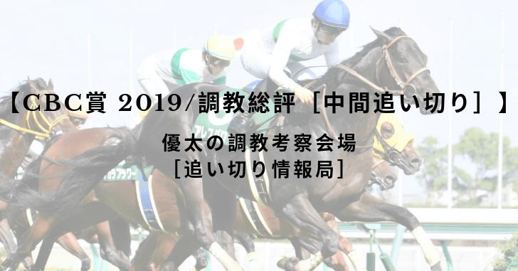 【CBC賞 2019/調教総評[中間追い切り]】