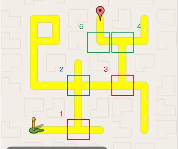 曲がり角を3組に分ける